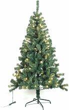 Sapin de Noël artificiel avec guirlande lumineuse