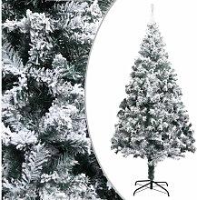 Sapin de Noel artificiel avec neige floquee Vert