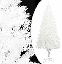 Sapin de Noel artificiel avec support Blanc 240 cm
