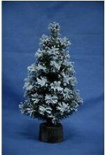 Sapin de noël artificiel flock alpine - 30 cm -