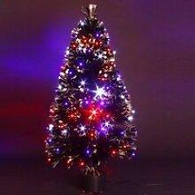 Sapin de Noël artificiel lumineux en fibre opti...