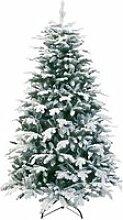 Sapin ZURICH, bleu, neige artificielle, 210 cm,