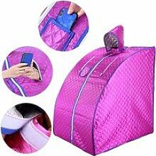 Sauna vapeur portable 1000w violet hombuy 76 * 88