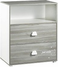 Sauthon - BABYPRICE Commode a Langer Smile Chene