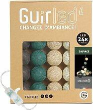 Sauvage Classique Guirlande lumineuse boules coton