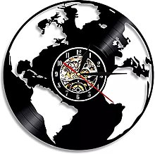 Sauvez la Terre Carte du Monde Horloge Murale