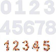 SAVITA 9 Pièces Moul à Gâteaux Numéro 0-8