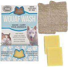 Savon + gant bio wouaf wash pour tous les animaux