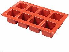 Savon Moules Silicone 8 Cavity Cube Square Forme