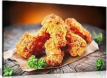 Savoureux poulet frit sur table en bois poulet