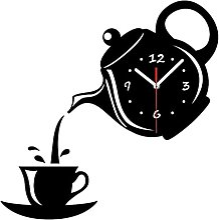 SCDZS Tasse à café théière Bricolage Horloge