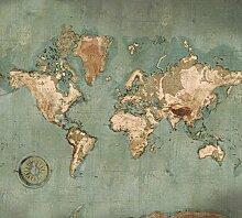 Scenolia Papier Peint Intissé Carte du Monde
