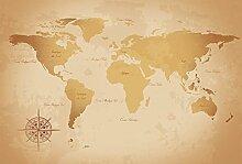 Scenolia Tapisserie Toile Textile Carte du Monde