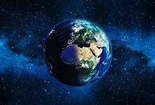 Scenolia Tapisserie Toile Textile Planète Terre