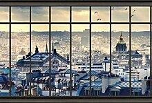Scenolia Tapisserie Toile Textile Toits de Paris 3