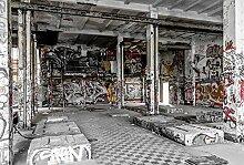 Scenolia Tapisserie Toile Textile Urbex Graffiti