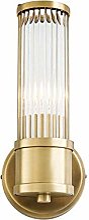 Scra AC Lampe murale de luxe en cuivre avec miroir