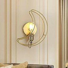 Scra AC Lampe murale en cuivre nordique moderne