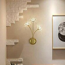 Scra AC Lampe murale nordique dorée créative