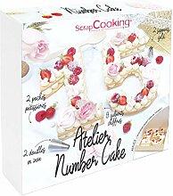 SCRAP COOKING 3810 Coffret Atelier Number Cake -