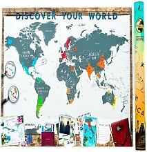 Scrape Map Deluxe Carte du Monde à gratter en