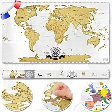 Scrape Off World map - carte du monde à gratter;