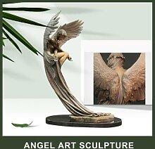 Sculpture d'ange en résine, décoration