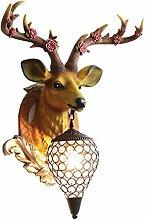 Sculpture tête de cerf Chanceux Deer Head mur