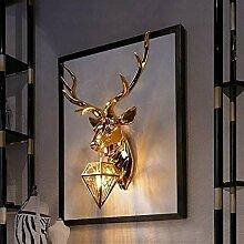 Sculpture tête de cerf Sculpture murale animal,