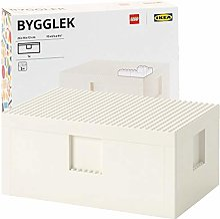 SD Ikea BYGGLEK Boîte avec couvercle, Blanc 26 x