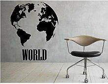 SDBS Carte du Monde Sticker Mural planète Terre