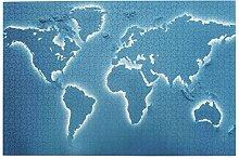 SDBUYW-ZQ Puzzles 1000 pièces,Carte du Monde de
