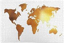 SDBUYW-ZQ Puzzles 1000 pièces,Carte du Monde en