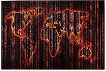SDBUYW-ZQ Puzzles 1000 pièces,Carte du Monde