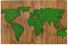 SDBUYW-ZQ Puzzles 1000 pièces,Carte du Monde Vert