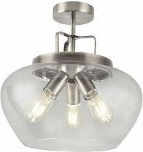 Searchlight - Plafonnier boule 3 ampoules argent