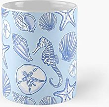 Seashells In Blue Classic Mug