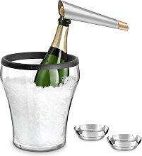 Seau à champagne, coupelles inox et tire-bouchon