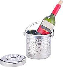 Seau à Champagne Cubes de Glace en Acier