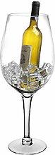 Seau à champagne Design verre à vin transparent