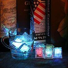 Seau à glace 3pcs LED glaçons glaçons gonflants