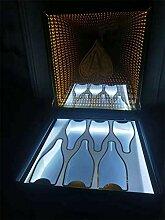 Seau à glace Boîte à vin lumineux LED VIP