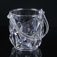Seau à glace en acrylique Transparent, en