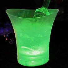 Seau à glace lumineux à LED 5 L pour champagne,