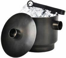 Seau à glace Rondo - XL Boom noir en métal