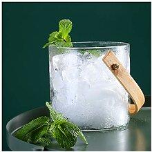 Seau à Glace Seau à glace en verre avec poignée