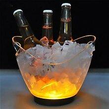 Seau à glace Transparent et léger, pour Bar,
