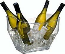 Seau à magnum à champagne rectangulaire en