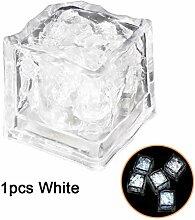Seau de glace 3pcs LED glaçons glaçons gonflants