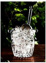 Seau de glace Seau de glace de verre barman